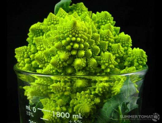 Romanesco Broccoli In A Beaker
