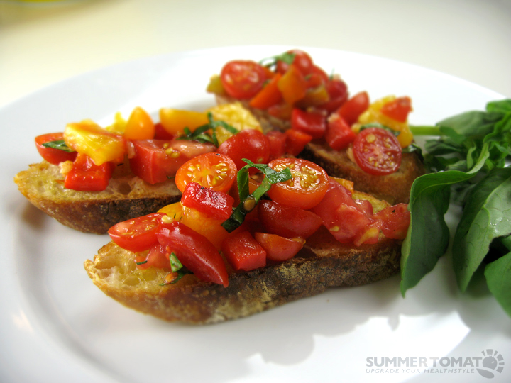 Perfect Summer Tomato Bruschetta Recipe