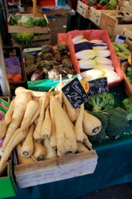 Parsnips, Broccoli, Artichoke and Endive