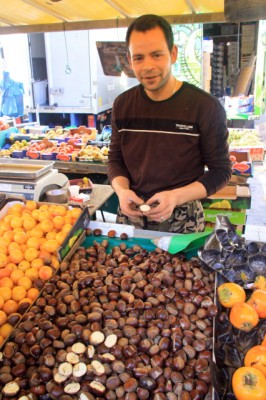 Vendor With Chestnuts