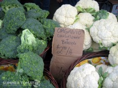 Organic Cauliflower and Broccoli