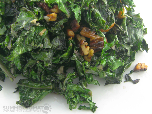 Easy Kale With Pecans Recipe