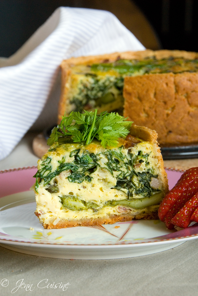 Asparagus, Spinach and Bacon Quiche, Gluten Free | Summer ...