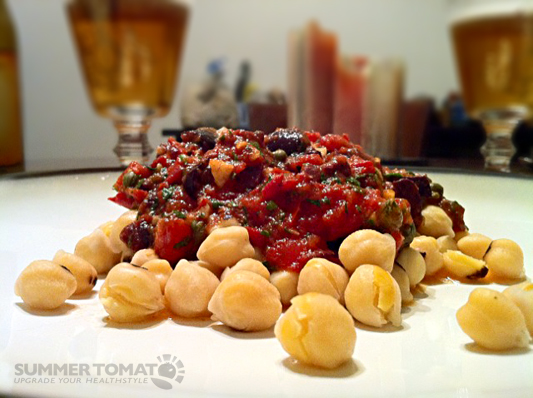 Healthy Pasta Substitute: Chickpeas (with recipe) | Summer Tomato
