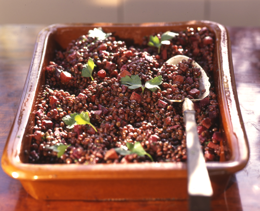Roasted French Lentils