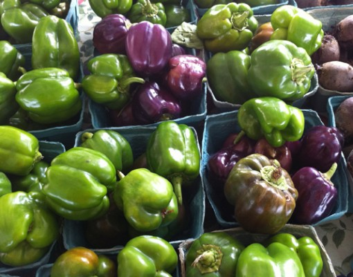 Green and Purple Bell Peppers