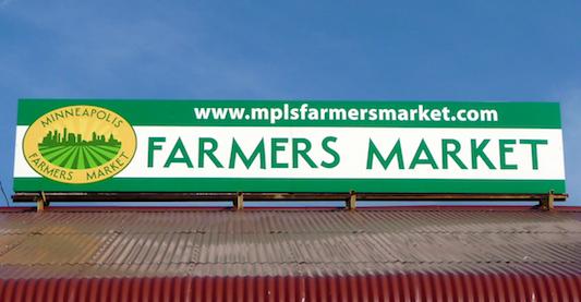 Minneapolis Farmers Market Sign