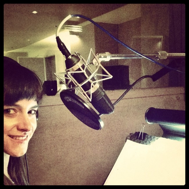 In the studio recording the #Foodist audiobook this week!