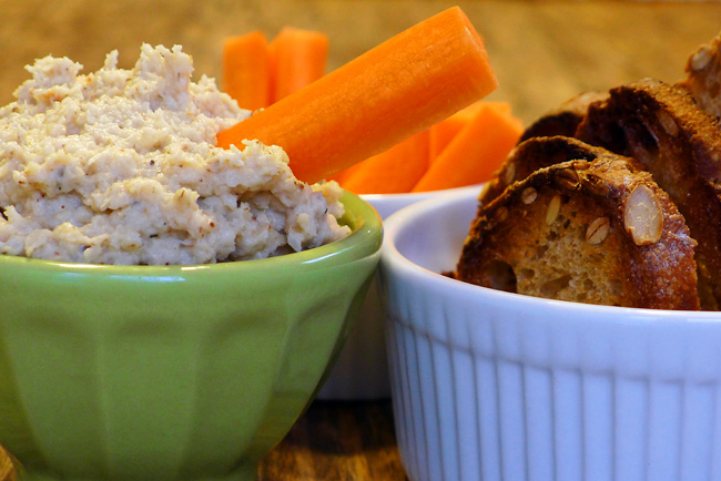 Roasted Parsnip and Cauliflower Hummus