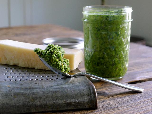 Kale Hazelnut Pesto