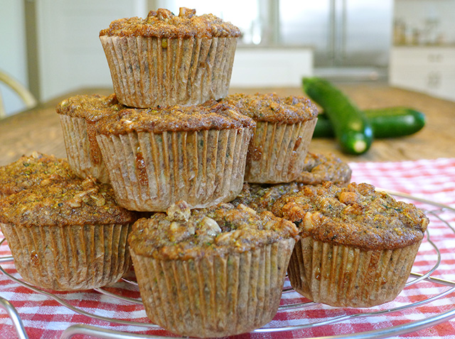 maple zucchini nut muffins