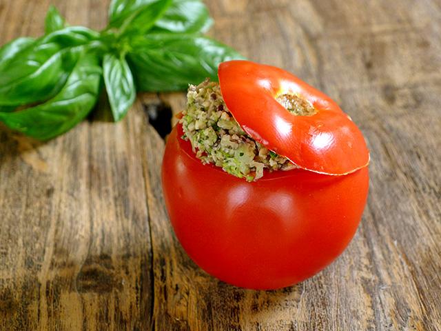 Tempeh Stuffed Tomato