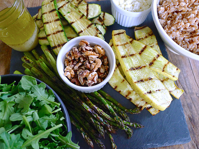 Grilled Spring Veggie Salad with Farro